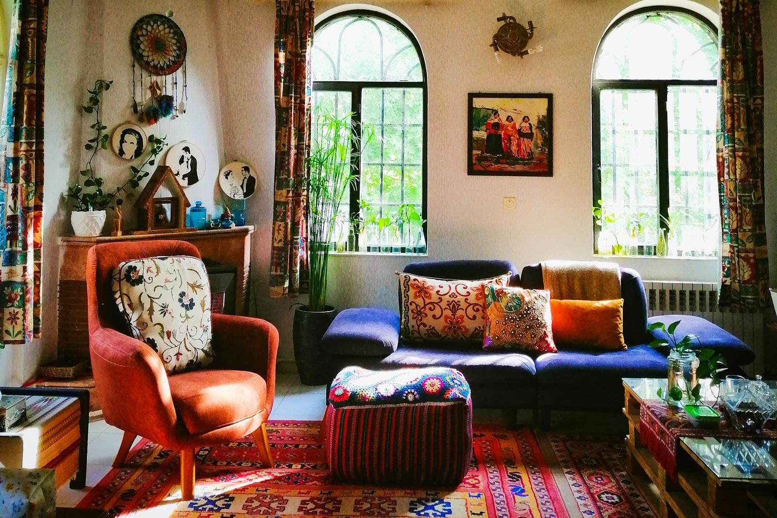 Dark Blue Velvet Sofa