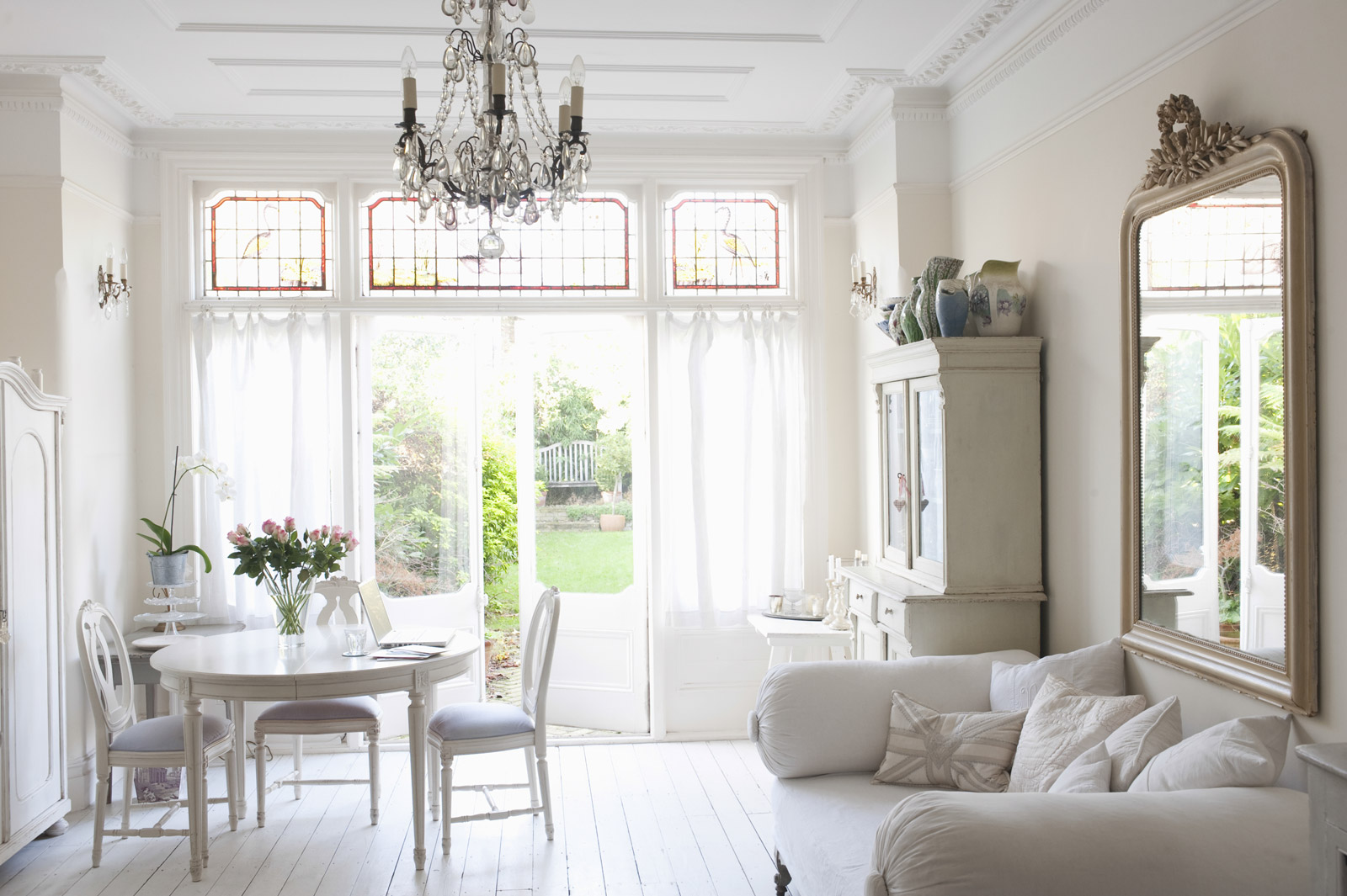 Luxury White French Living Room
